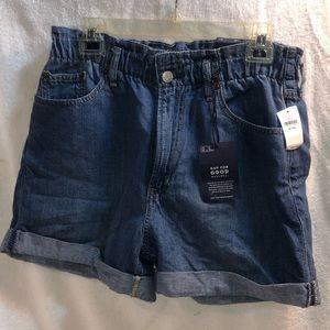 Gap High/ Ruched Waist Jean Shorts